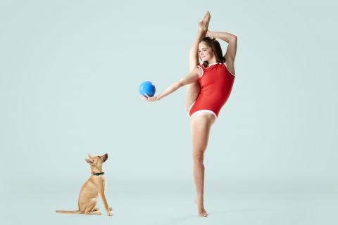 A photography project featuring adopted puppy and professional dancer Eva Igo
