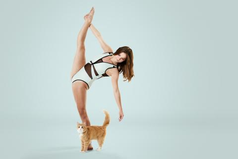 A photography project featuring adopted cat and professional dancer Eva Igo