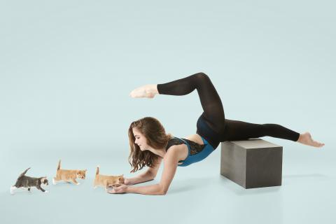 A photography project featuring adopted kittens and professional dancer Eva Igo