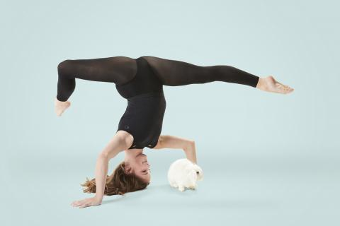 A photography project featuring adopted white rabbit and professional dancer Eva Igo