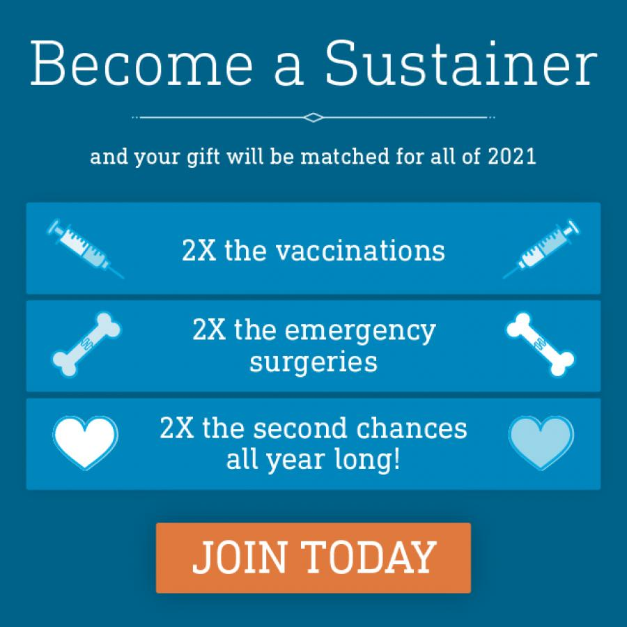 Become a sustainer today and make twice the impact